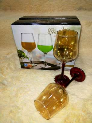 COLOURED WINE GLASS image 1