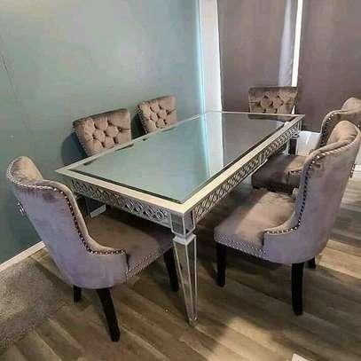 Beautiful Stylish 6 Seater Dining Set image 1