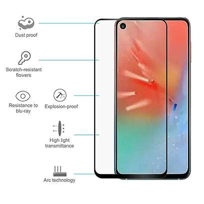 5D HD Clear Tempered Glass Front Screen Protector for Samsung A60 image 3
