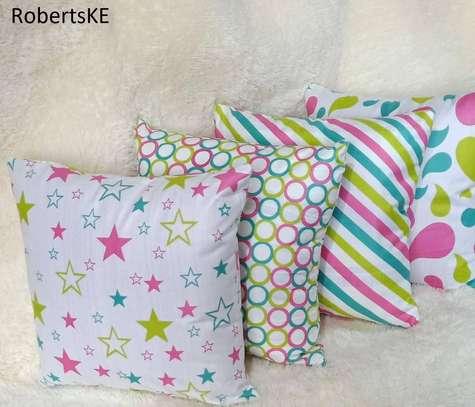 pink polka dots pillow image 1