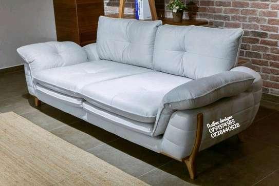Grey three seater unique sofas image 1
