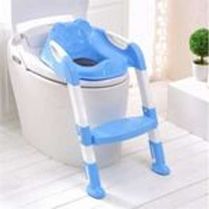 Kids Toilet Potty Trainer Seat Step Up Training Stool Chair Toddler With Ladder image 1