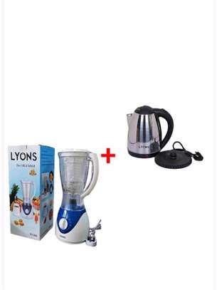 Lyons Cordless Stainless Steel Electric Kettle With Free Blender image 1