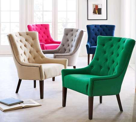 Beautiful Stylish Modern Quality Tufted Dining Chairs image 1