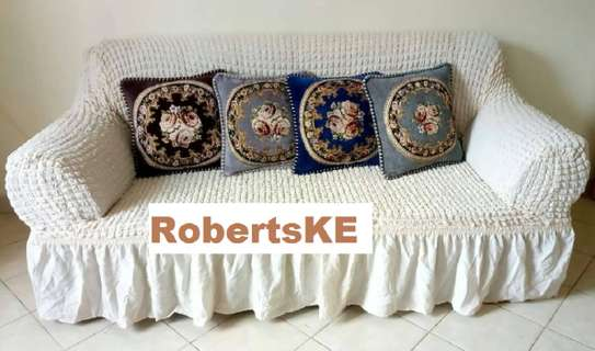 sofa covers 7 sitter white image 1