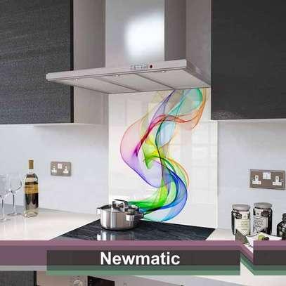 Newmatic Rainbow Wave Glass Splashback 60cm image 1