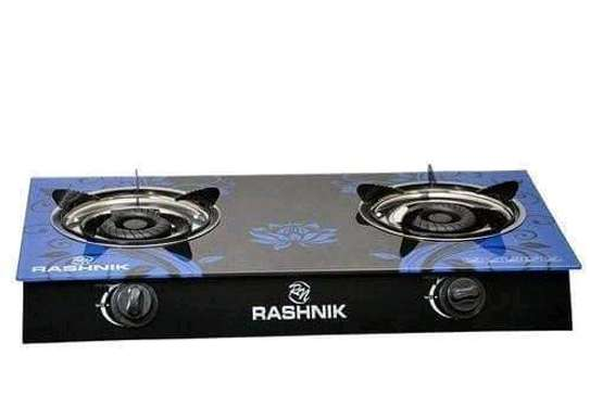 RASHNIK 2 Burner top glass cooker image 1