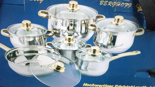 Stainless steel sufuria/Induction sufuria/cooking pot image 1