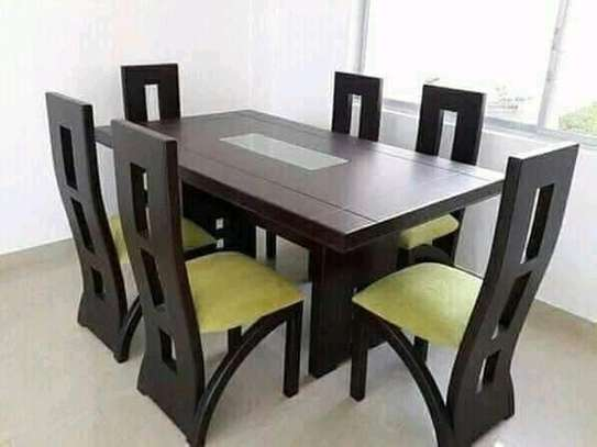 Beautiful Modern Quality Mahogany 6 Seater Dining Table image 2
