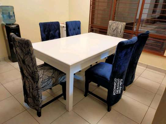 Six seater dining table for sale in Nairobi Kenya/modern dining tables/dining chairs image 3