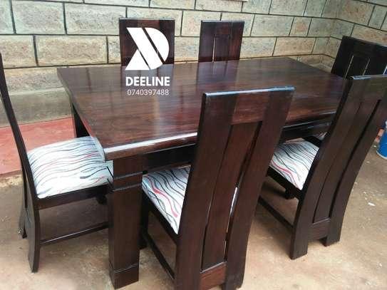 6 Seater Solid Mahogany Wood Sets image 1