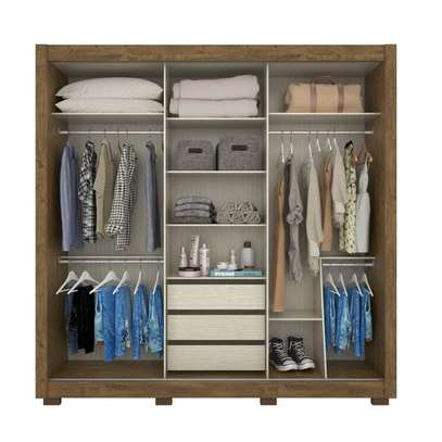 Wardrobe with 3 Sliding Doors - Moval Montreal - Brown Hazelnut image 2