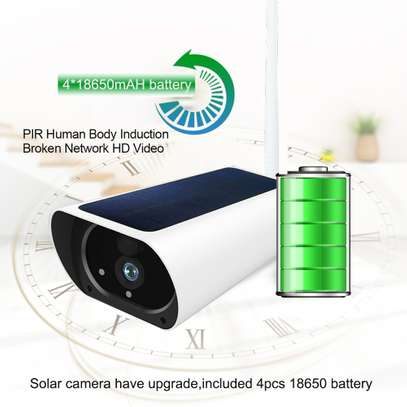 Wireless Outdoors Solar Powered Cctv WiFi Bullet 1080P image 3