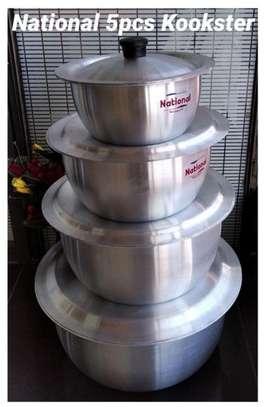 4 Pcs National EXH Aluminum  Kookster Cooking Set With Lid image 1