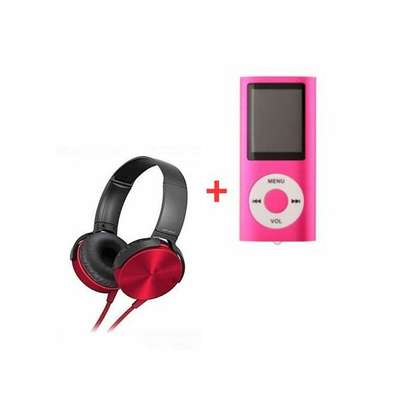 Headphone Central Extra Bass Music Headphones With Mp4 Player image 1