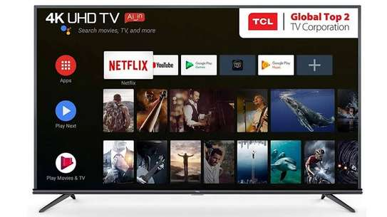 Brand new 50 inch tcl smart android 4k uhd TV image 1