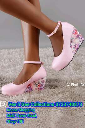 Floral light heel wedges image 2