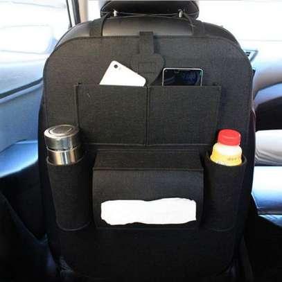 Multi-Pocket Car Back Seat Storage Organizer Hang Black (blaCK image 3