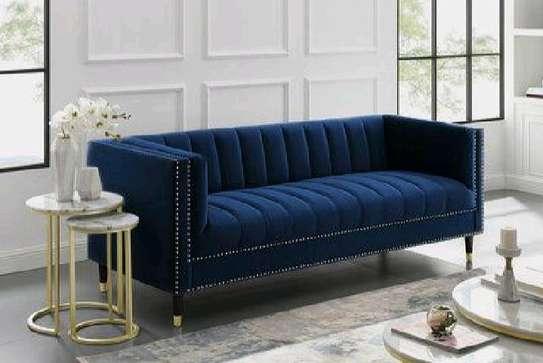 Blue three seater sofa for sale in Nairobi Kenya/modern sofas and couches manufacturers in Nairobi Kenya/executive sofas image 1
