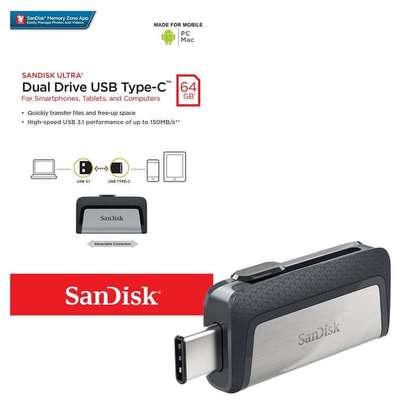 Sandisk Dual Drive USB Type C 64 GB OTG Drive image 1