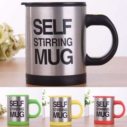 Self Stirring Coffee Double Insulated Coffee Mug - Black