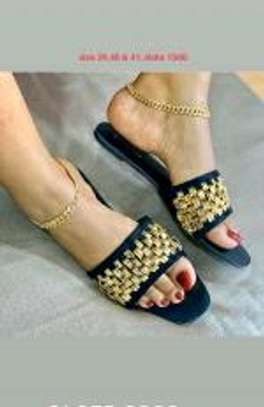 stylish ladies designer sandals image 1