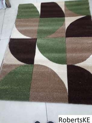 Green-brown turkish carpet image 1