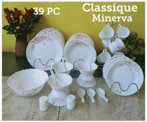 White dinner sets image 1