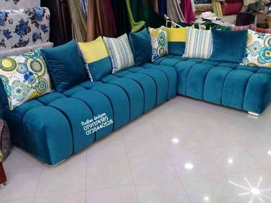 Blue L shaped sofas for sale in Nairobi Kenya/blue couches kenya/five seater sofas/sofas and chairs for sale in Nairobi Kenya image 1