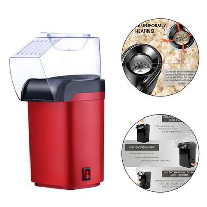 Small Hot Air Electric Popcorn Popper Maker Machine EU Easy Store Red image 3