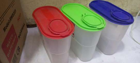 Colured 3piece cereal containers image 1