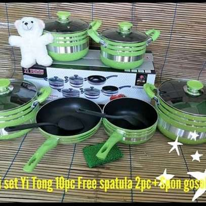 Yitong 13PCS Nonstick Cookware Set + Serving Spoons +Scouring Dish image 4