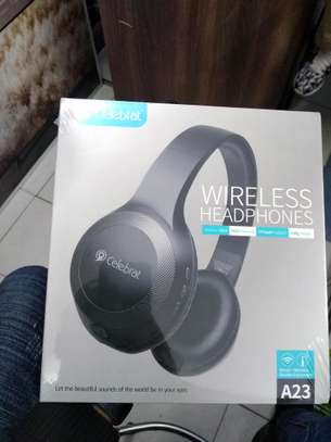 Celebrat Wireless BT headphones A23 Available brand new and sealed in a shop image 1