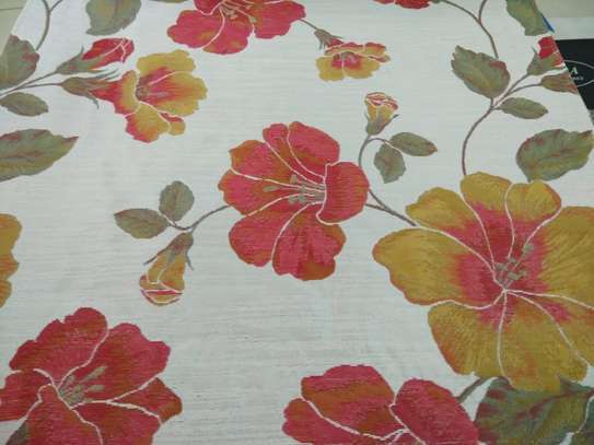 Floral Red Fabric