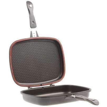 Dessini 40 Cm Double Sided Grill Non-stick Pressure Pan - Black image 2
