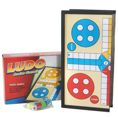 Family Kids Magnetic Ludo Board Games image 2