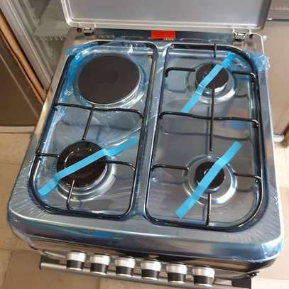 Bruhm standing cooker 3gas + 1 electric 60cm x 60 cm color Silver,