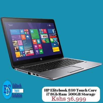 HP Elitebook 840 Touch Core  i7 8Gb Ram  500GB Storage 14 inches Touch image 1