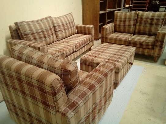 Fossilworx fabric sofa for sale image 1