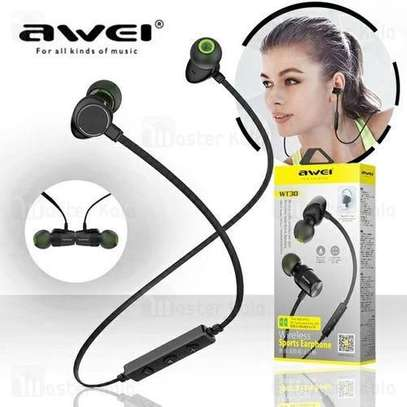 Awei WT30 Magnetic Sports Bluetooth Earphone Earbuds image 2