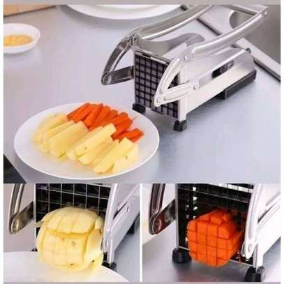 Heavy Stainless Steel Chipsfries Potato Cutter-Chopper image 1