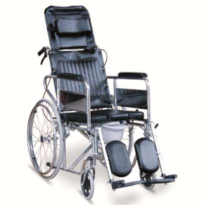 Recliner commode wheelchair image 3