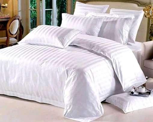 Stripped White Cotton Duvet image 1