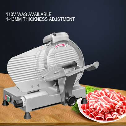 Electric Meat Slicer Cutter 10 In. Stainless Steel 240-Watts Semi-Automatic image 1
