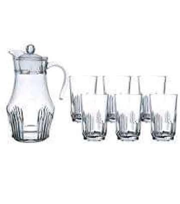 Arcopal water set 1jug 6 glasses image 1