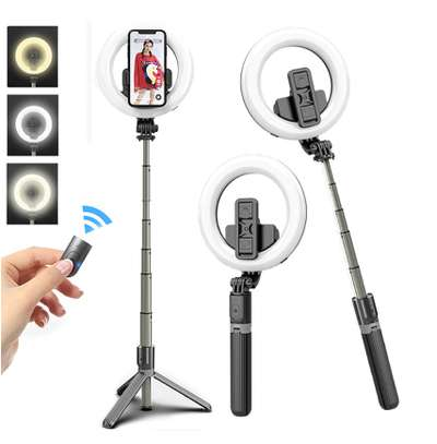 Ring Light Selfie Stick With Tripod Stand and Bluetooth Control image 1