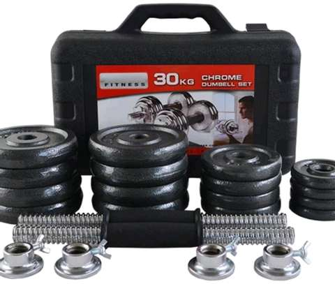 30kg Chrome dumbbell set image 1
