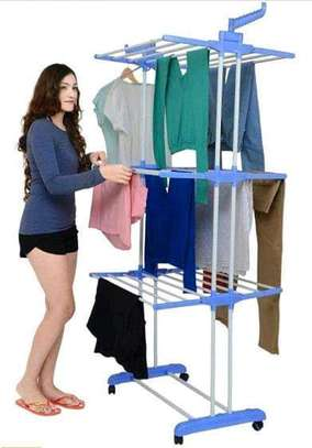 Portable clothes drying rack image 1