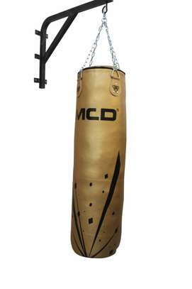 MCD Punching Bag 5 FT UNFILLED Set Kick Boxing Heavy MMA Training with Gloves Punching Mitts Hanging Chain Muay Thai Martial Arts image 4