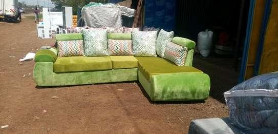 A green unique corner sofa image 1